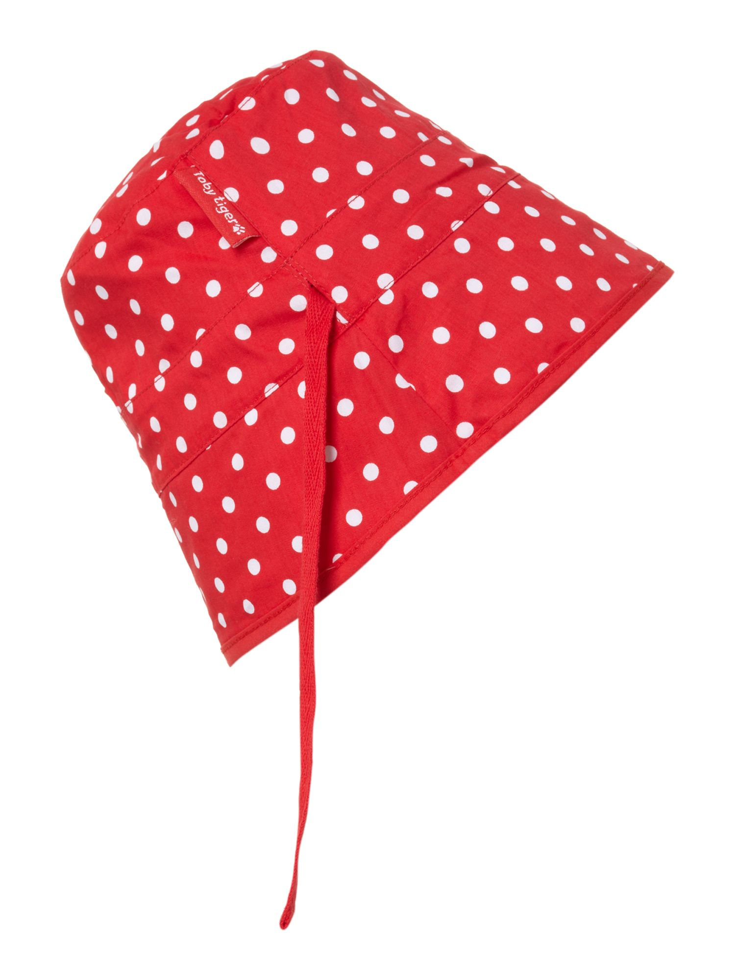 Girl`s reversible sunhat in strawberry