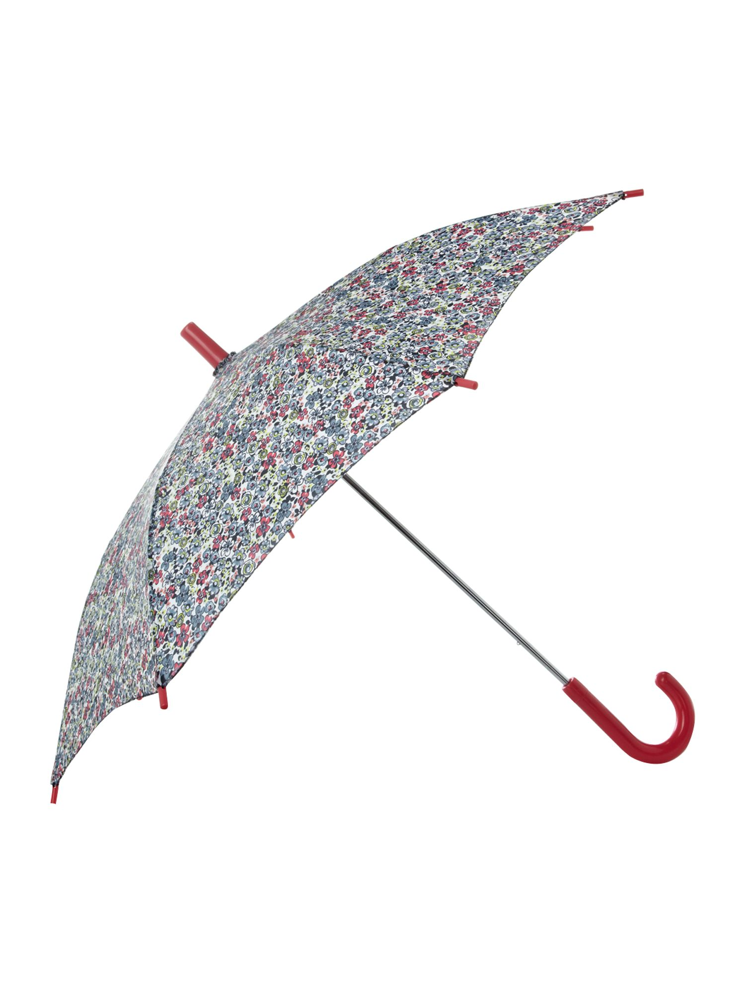 Girl`s floral umbrella