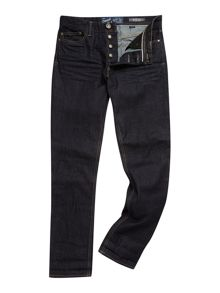 selvedge straight leg jeans