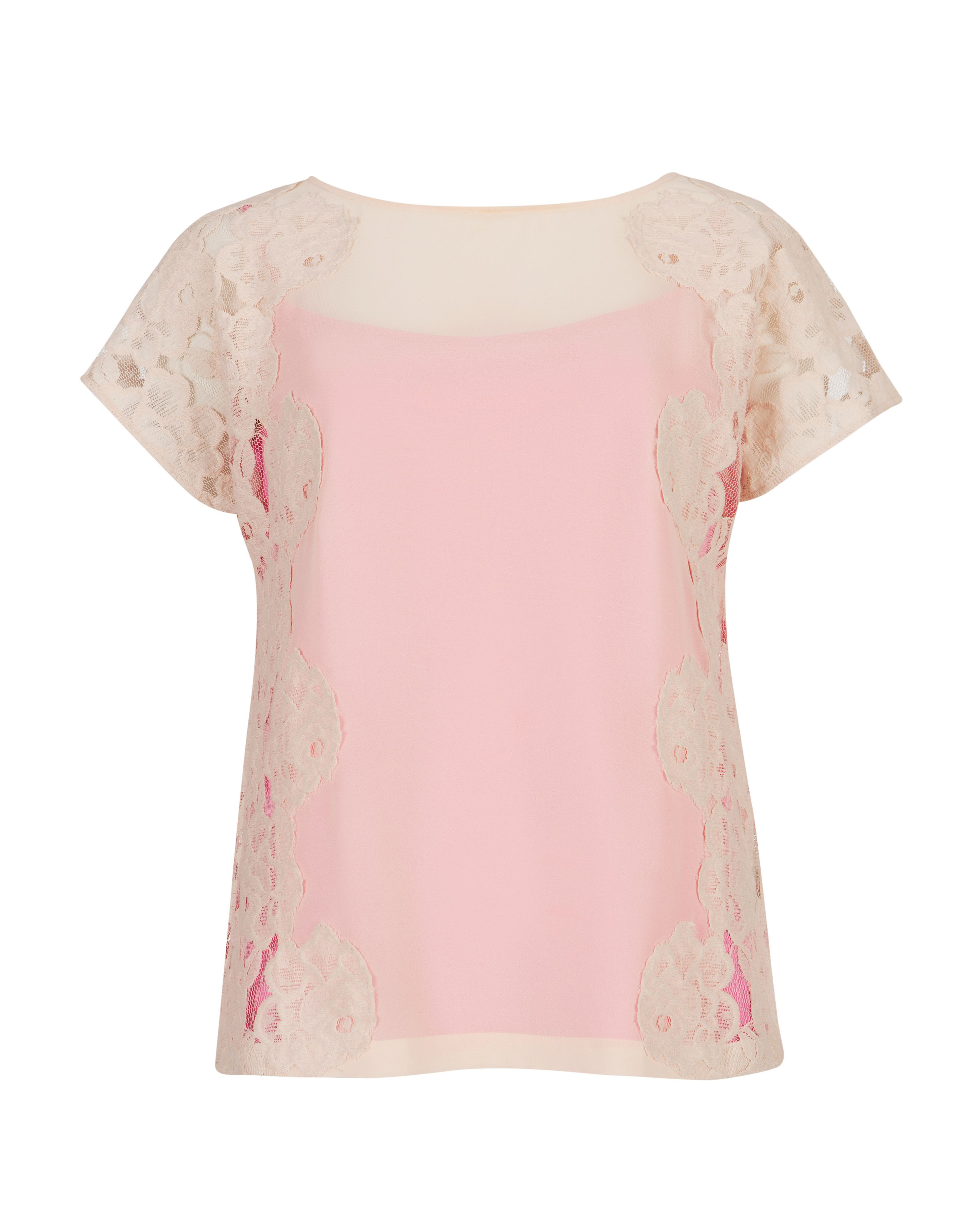 Chasity lace detail top
