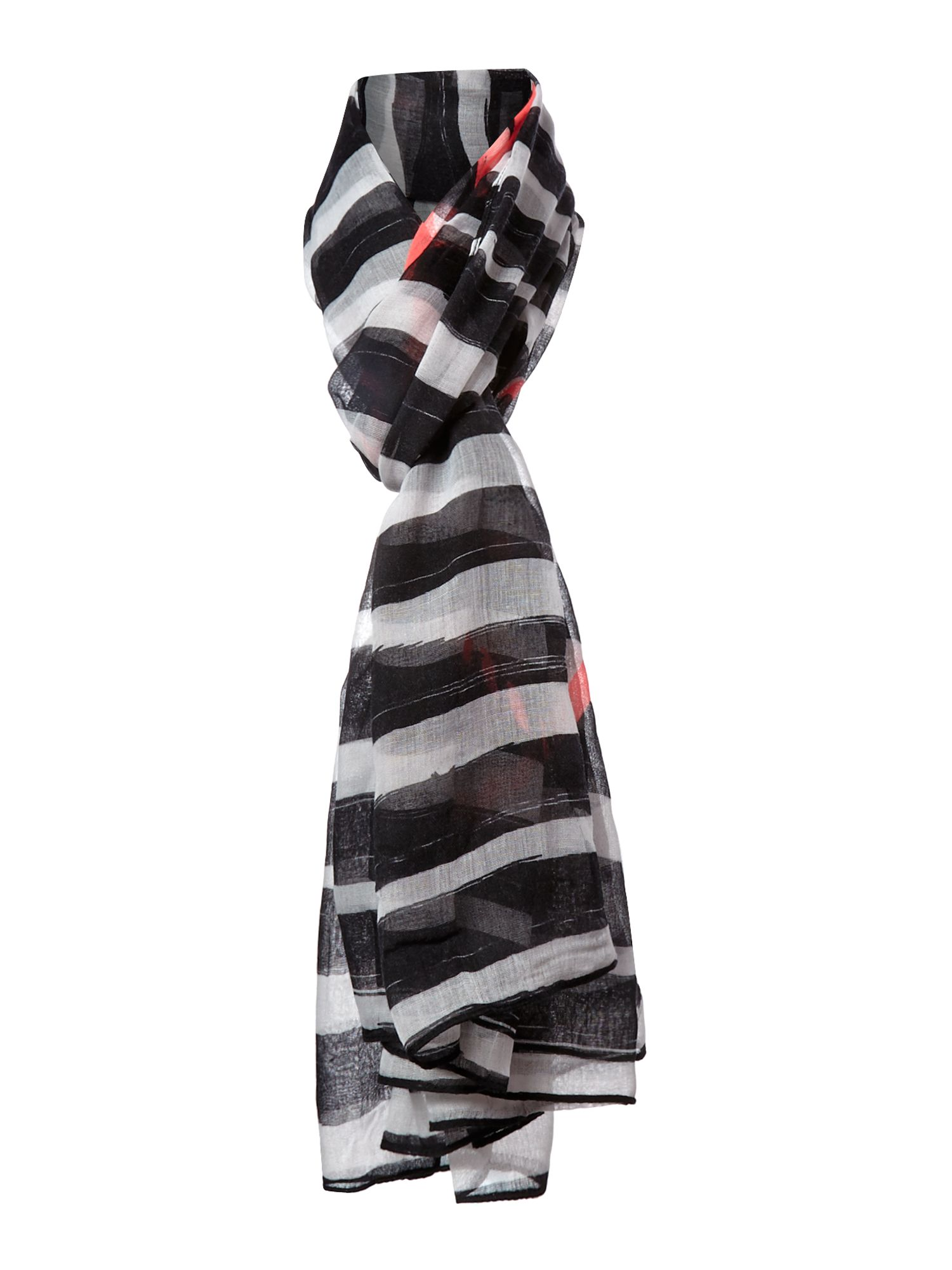 Live and love stripe oblong scarf