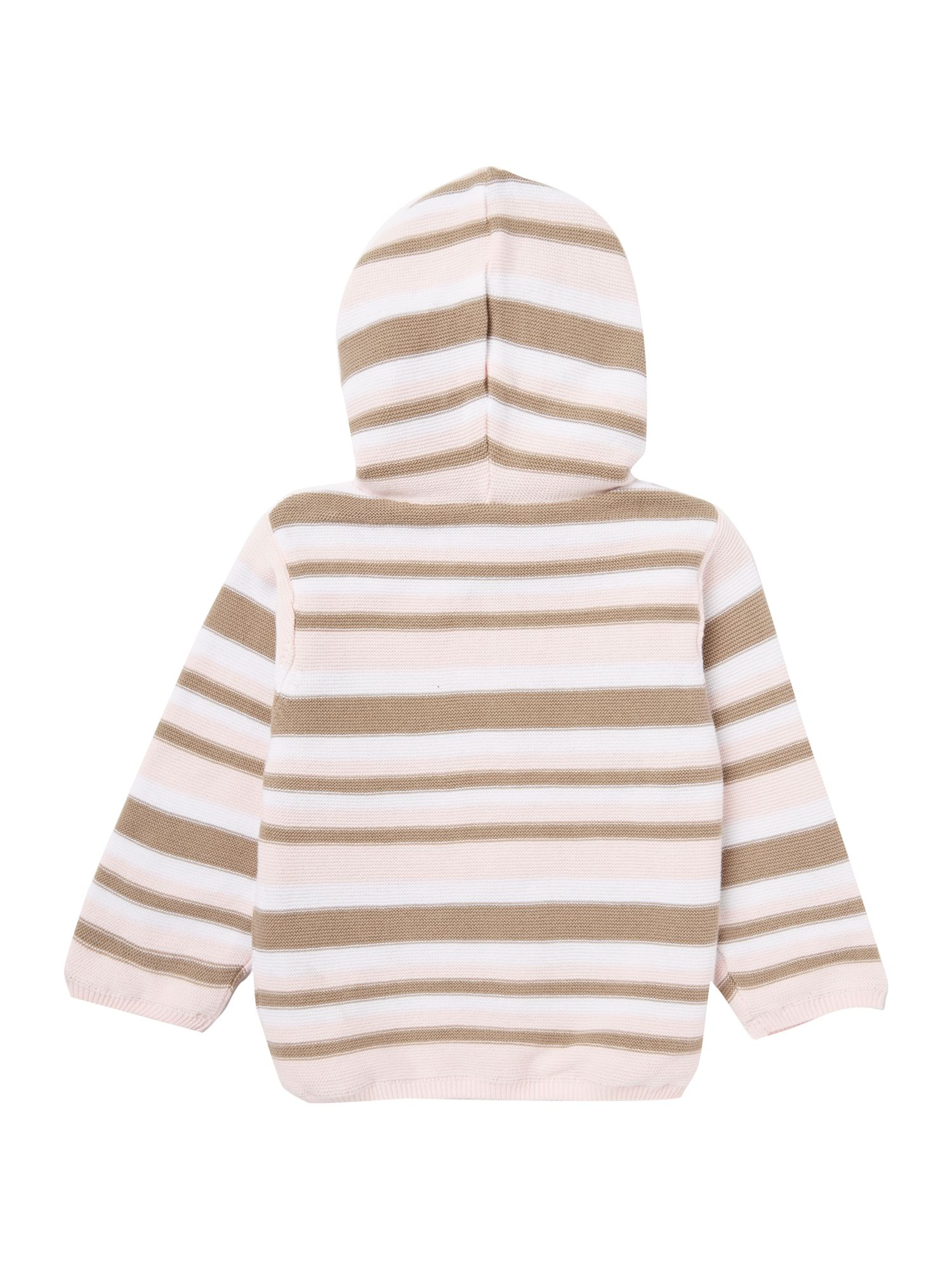 Baby girl`s stripe cardigan with hood