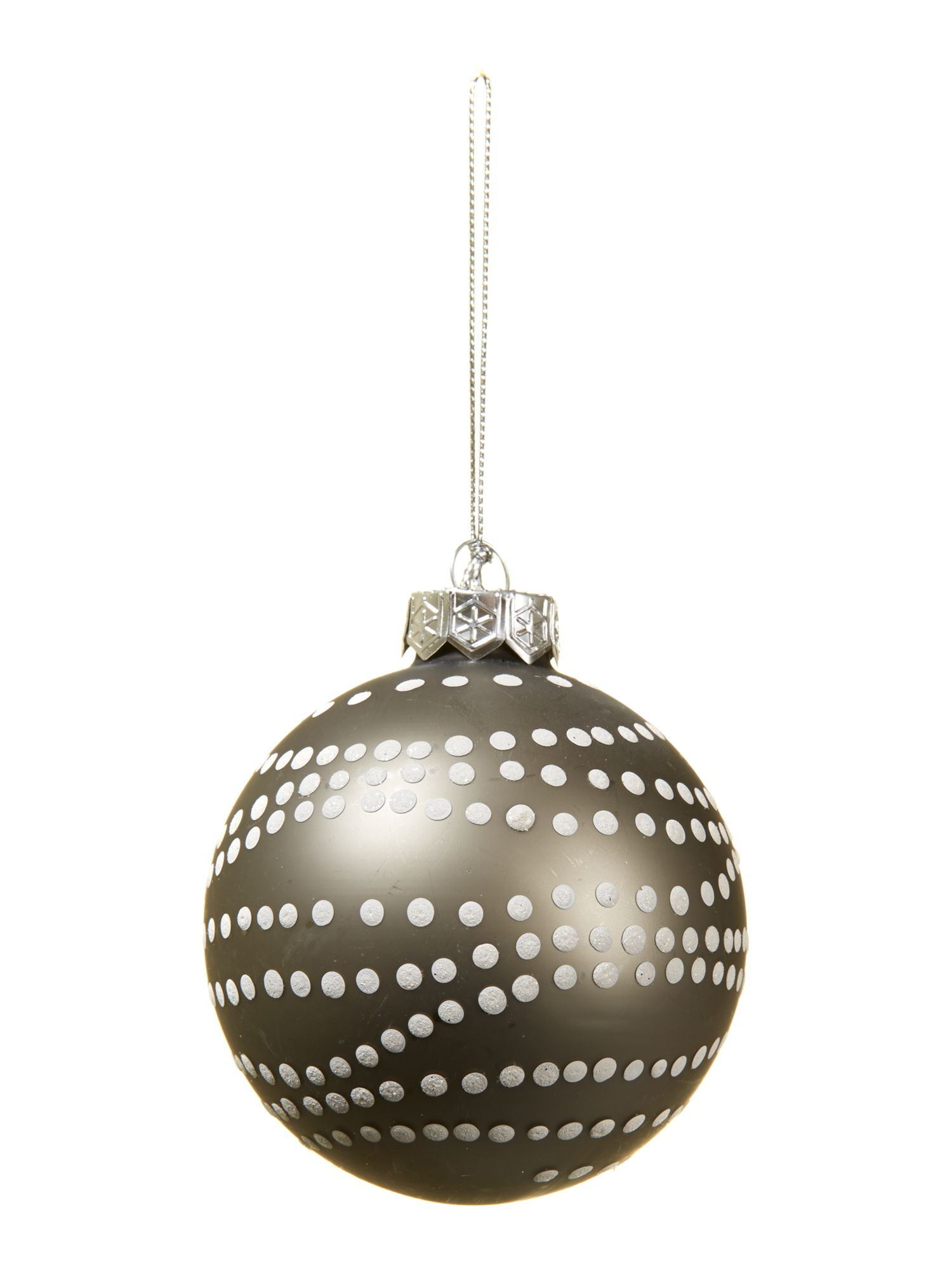 Woodland Charm matt glass bauble dotty