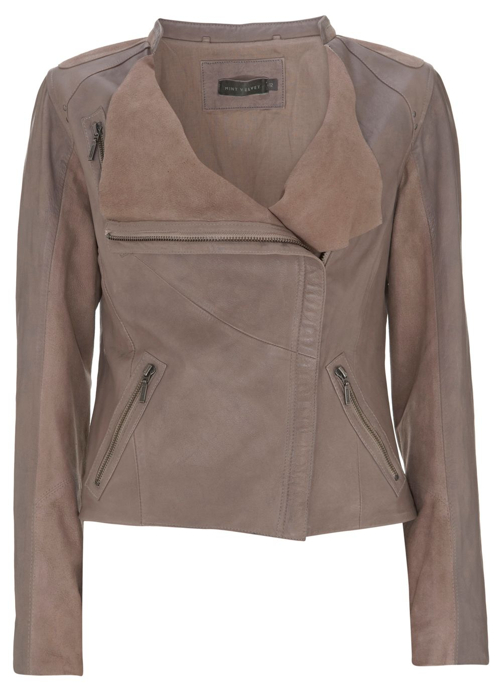Leather & suede jacket