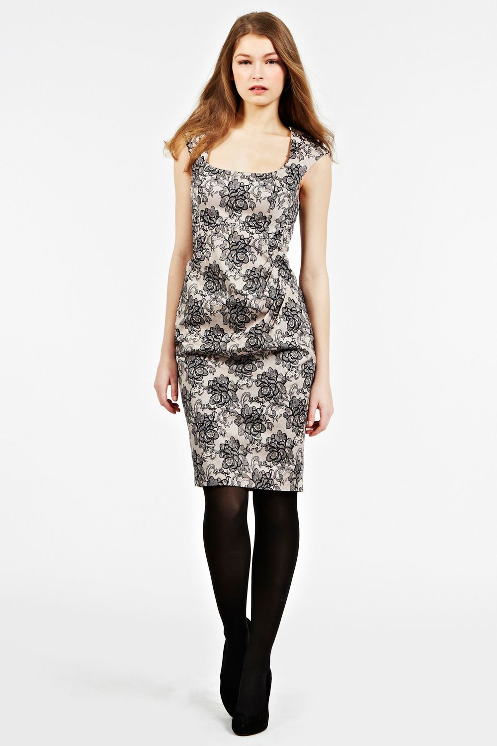 Victoria lace print shift