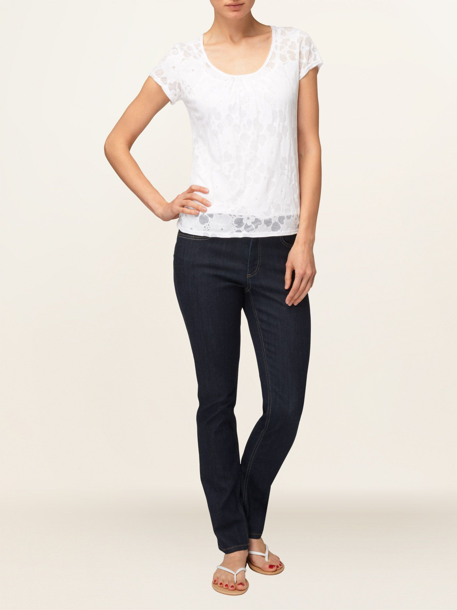 Burnout flower top