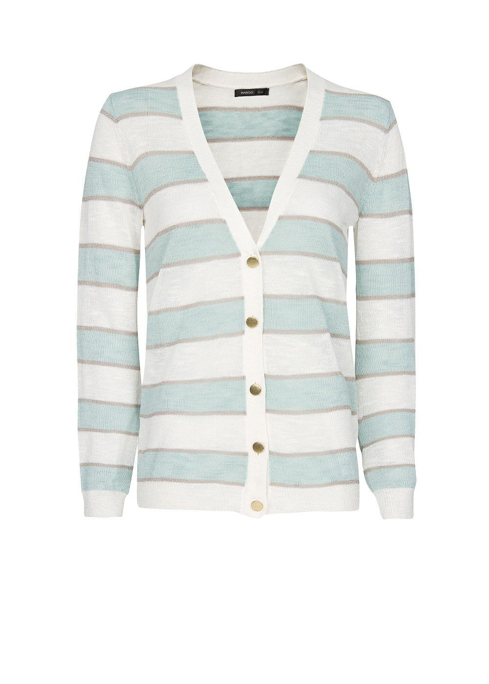 Metallic stripes cardigan