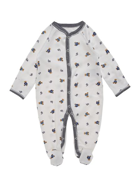 Polo Ralph Lauren Boys Teddy Print All-In-One Sleepsuit
