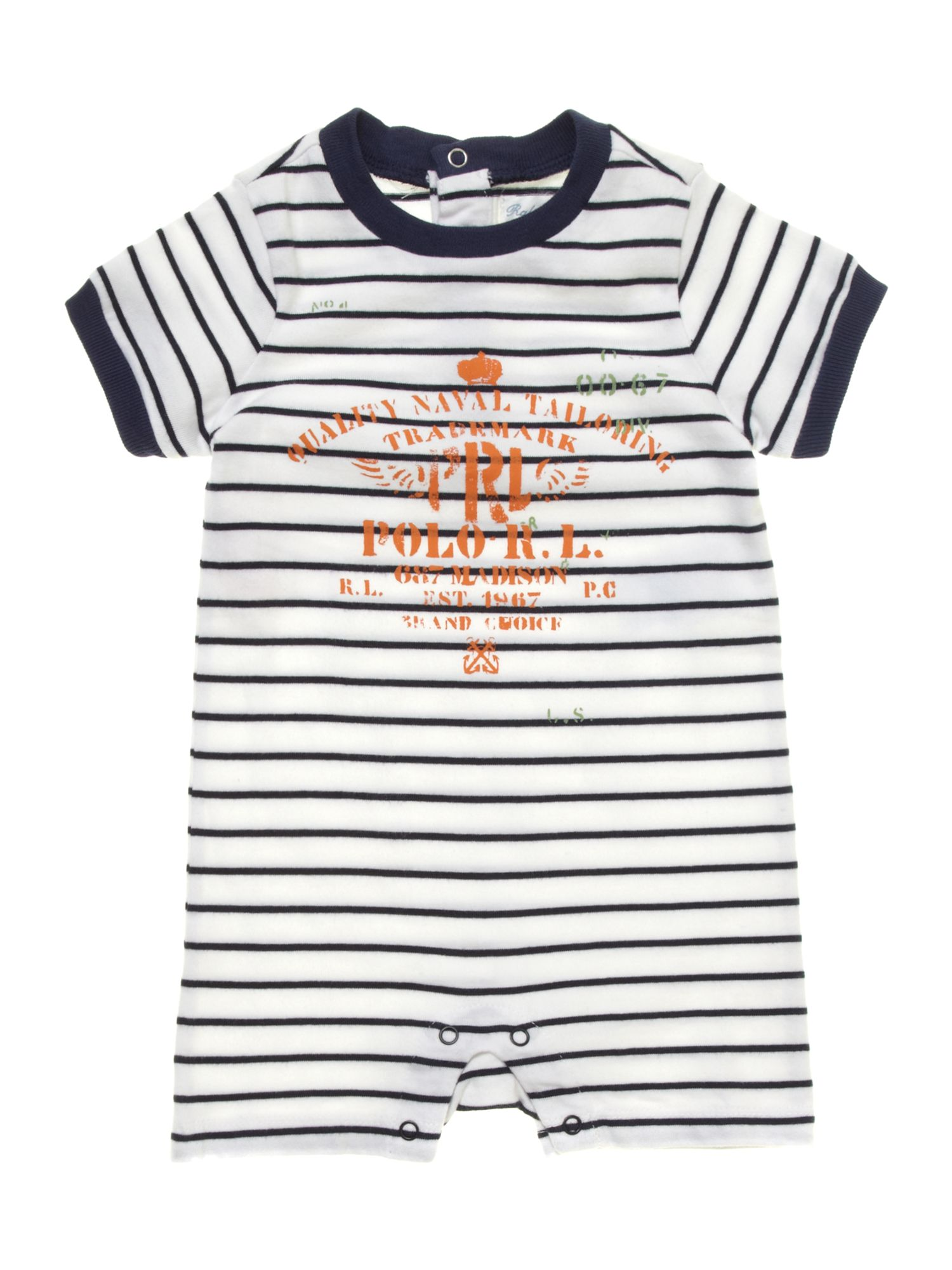 Boy`s stripe all-in-one without feet