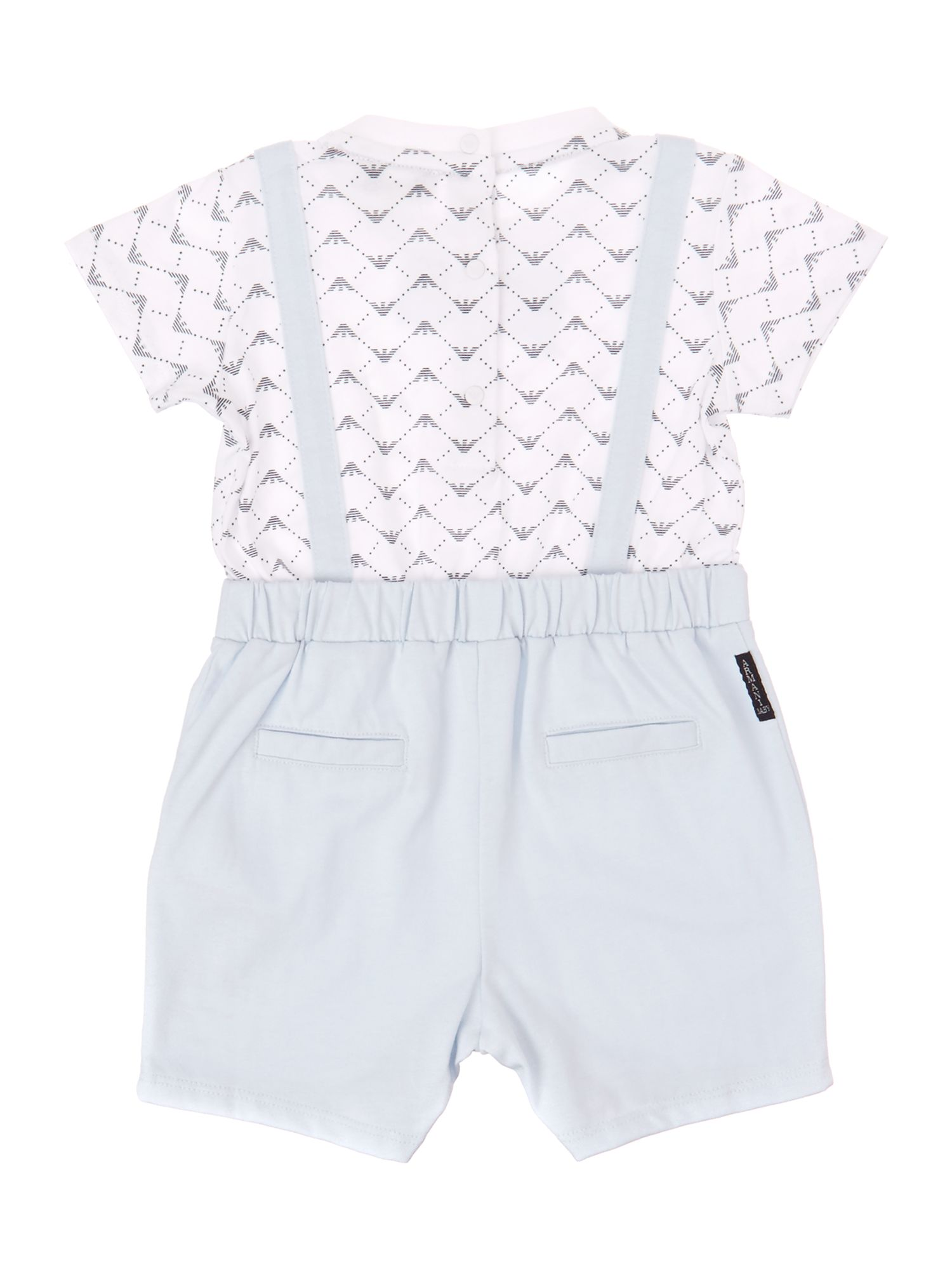 Baby boy`s T-shirt & shorts all-in-one