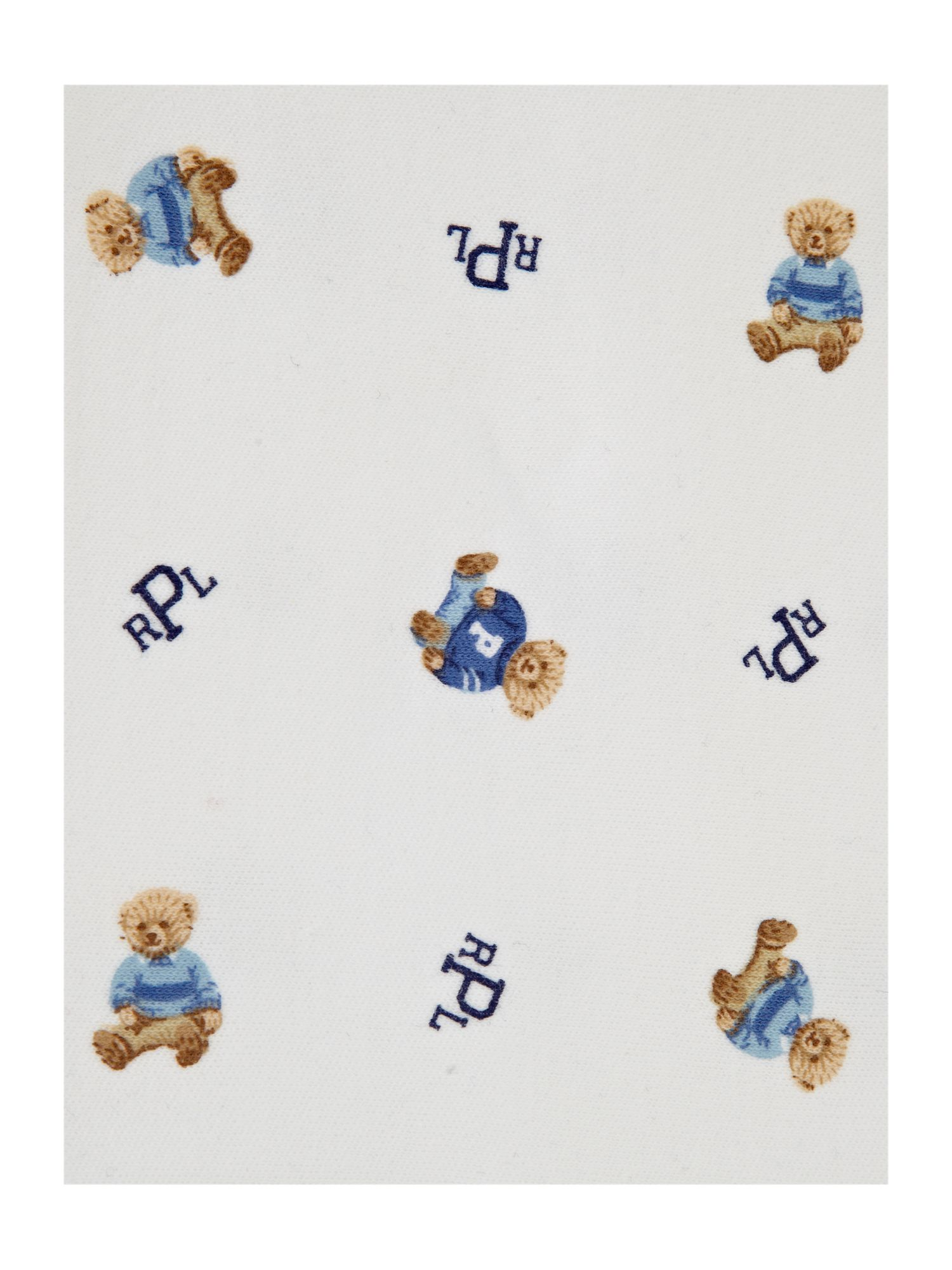 Boy`s teddy print blanket