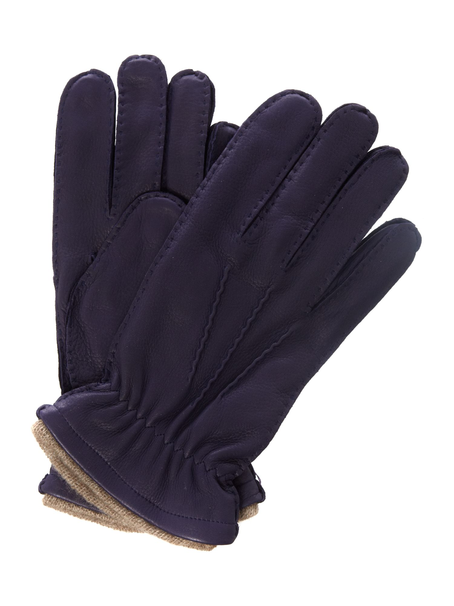 Cashmere lining leather gloves