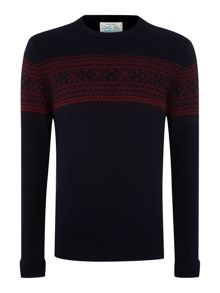 Eden fairisle crew neck jumper