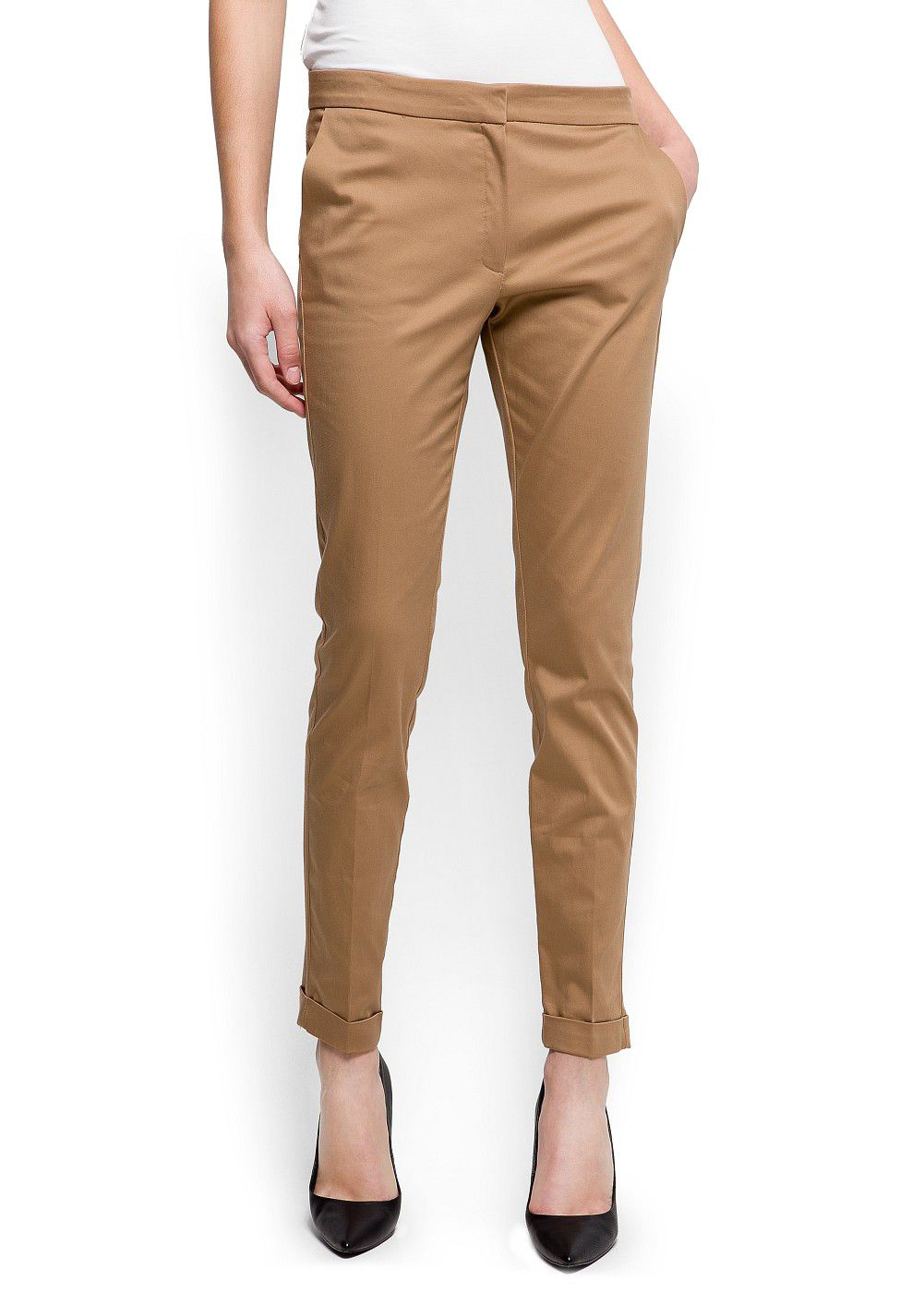 Tailored cropped trousers