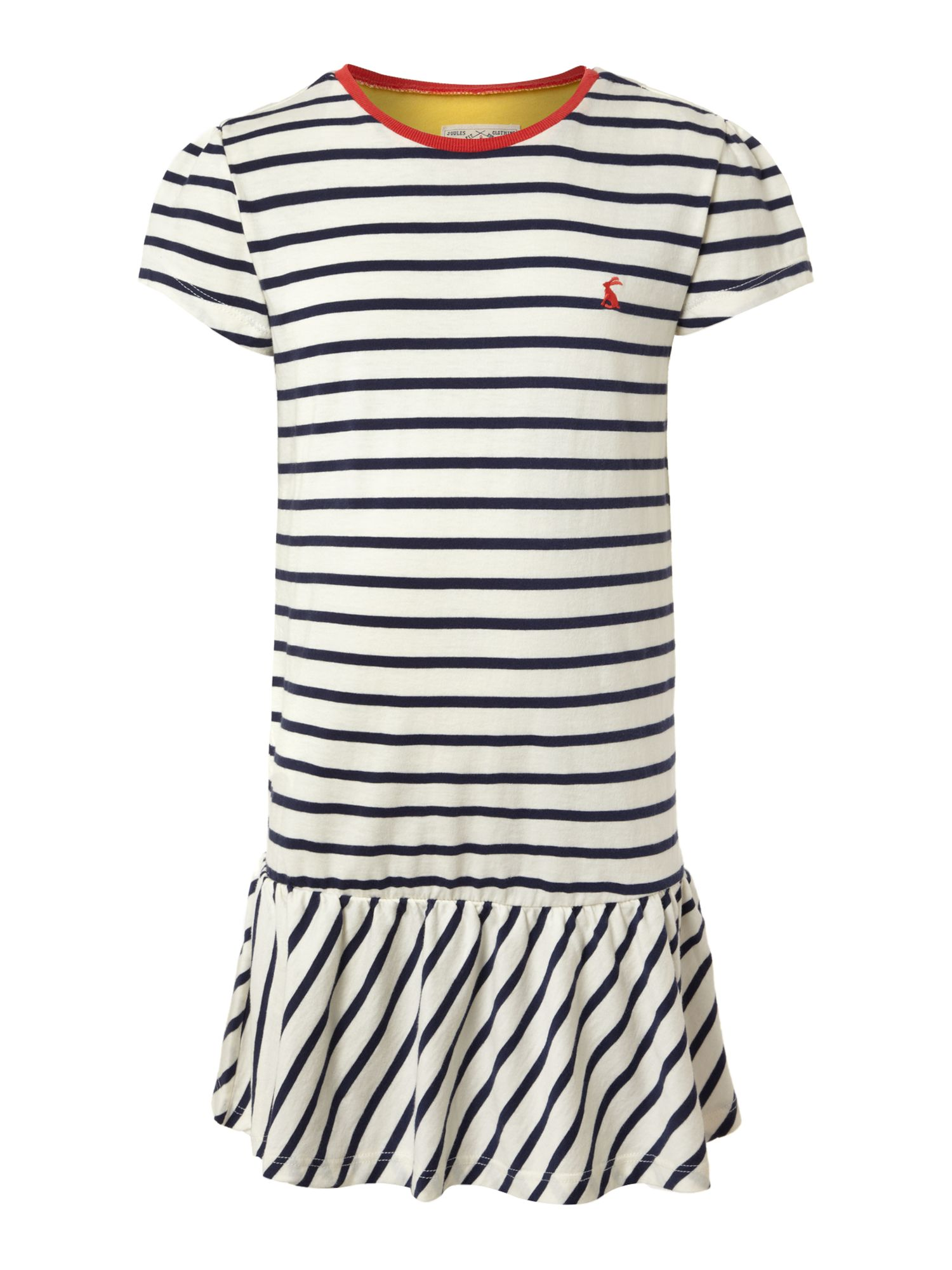 Girl`s striped frill hem dress