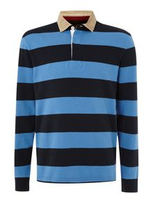 Scholar block stripe long sleeve rugby