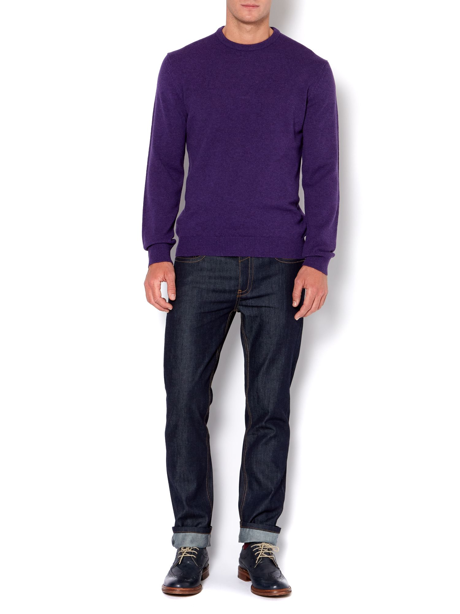 Hawick made in Scotland lambswool crew neck