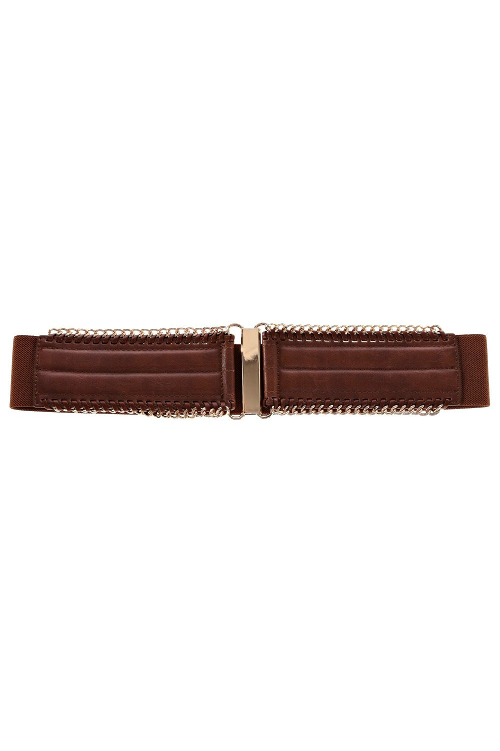 Chain edge elastic waist belt