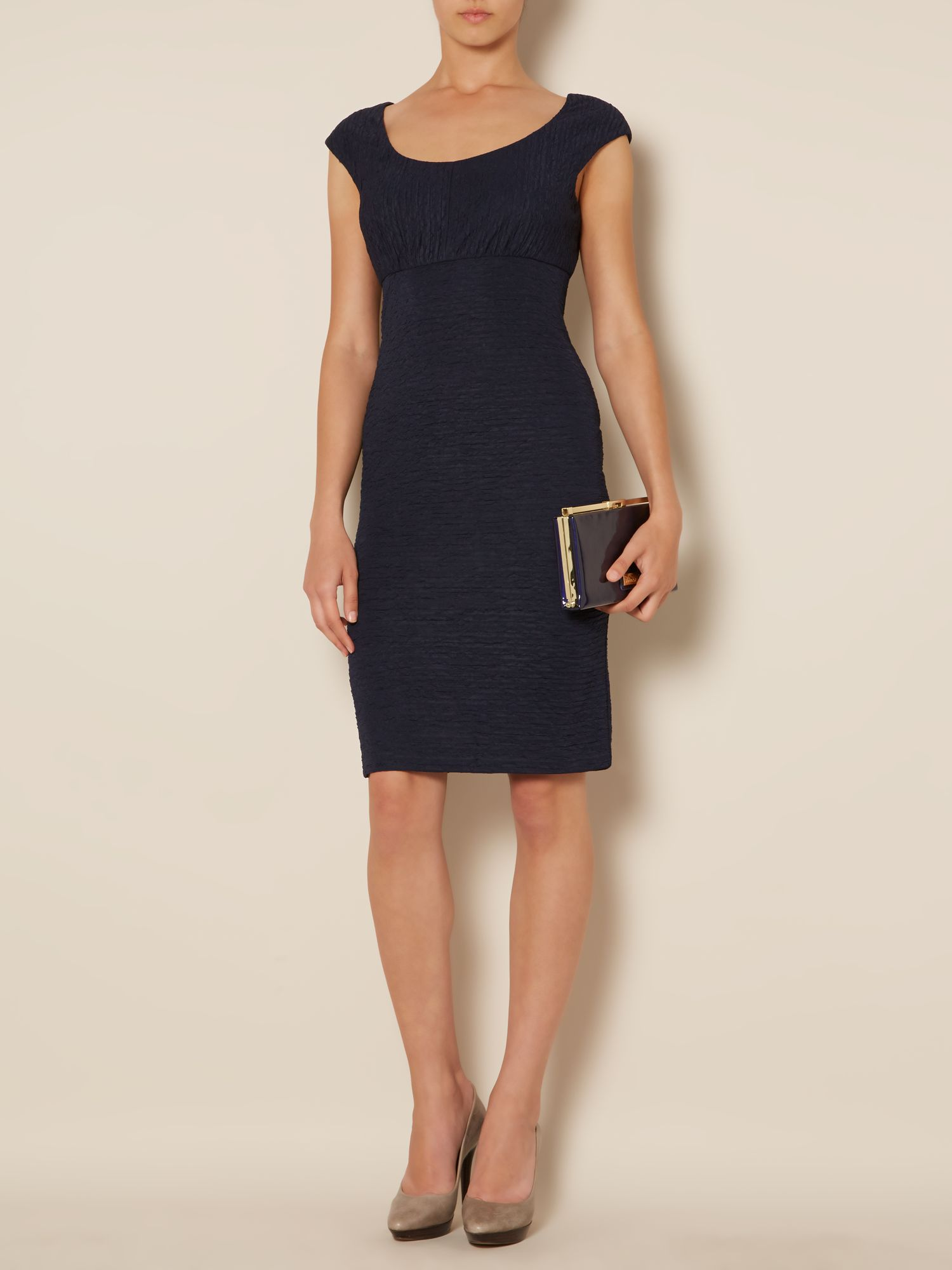 Textured scoop neck dress