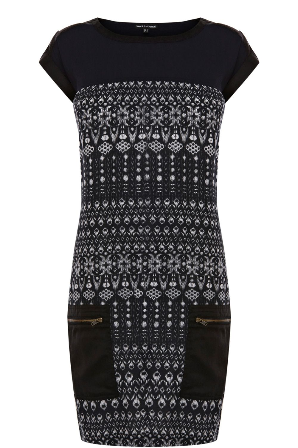 Tribal zip pocket dress