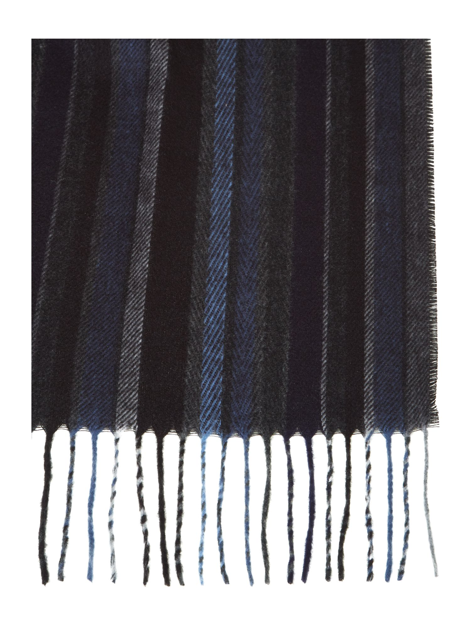 Soft touch multi-stripe scarf