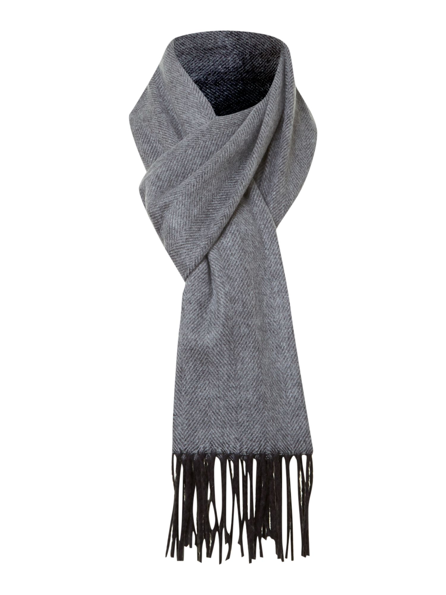 Soft touch herringbone scarf