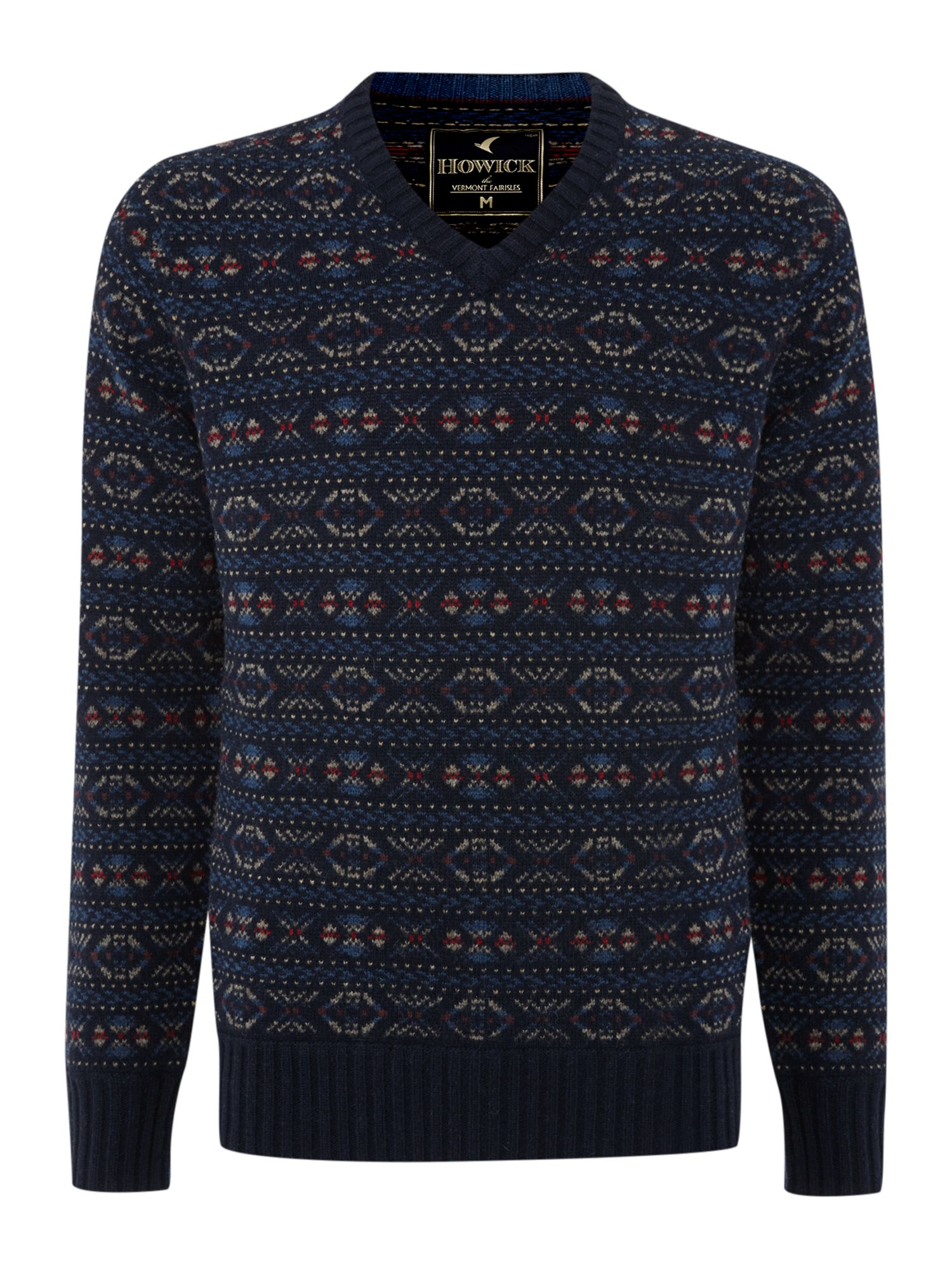 Vintage Fairisle v neck jumper