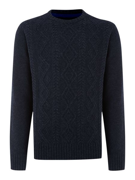 Burniston cable crew neck jumper