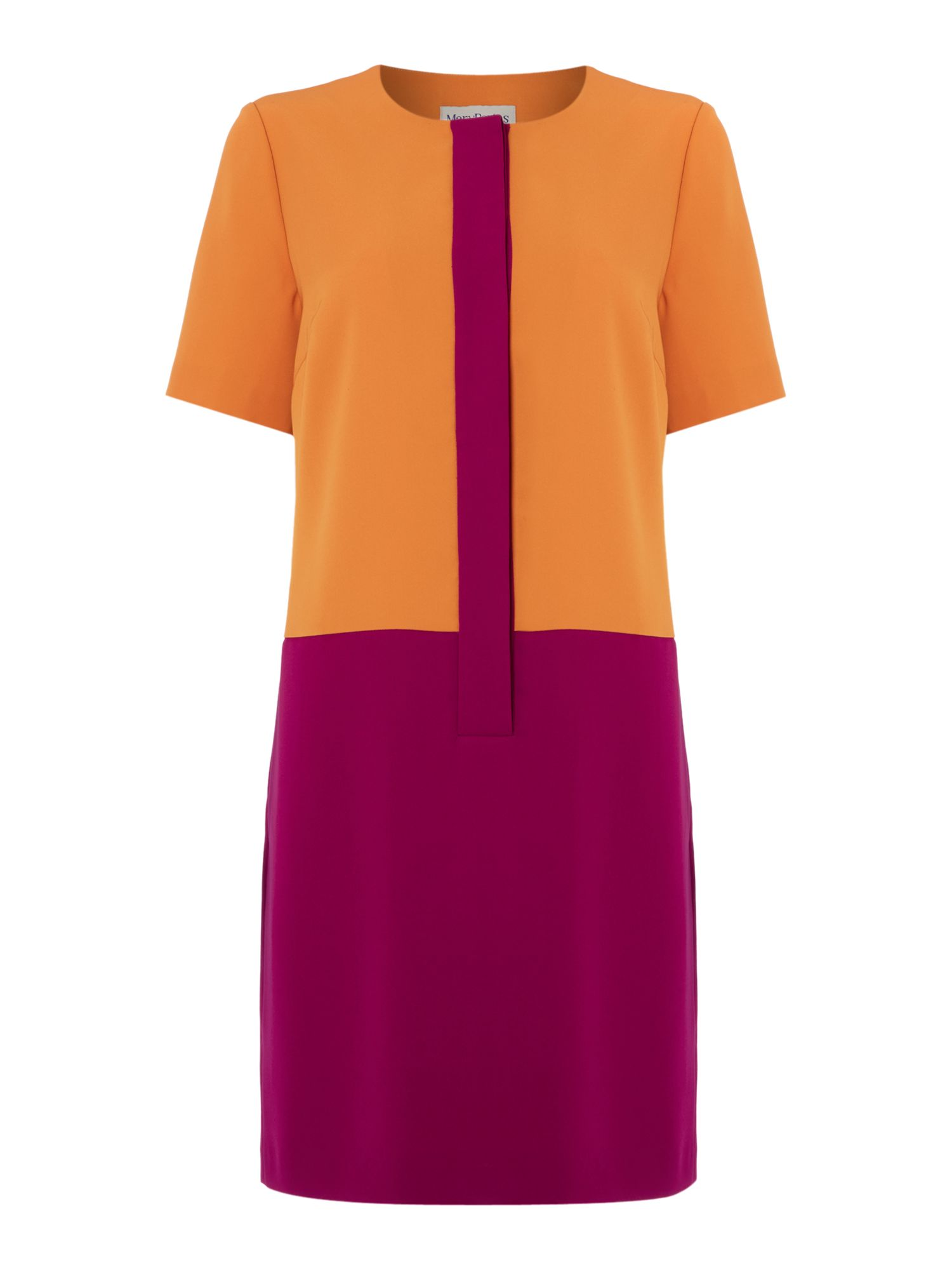 Colour block cocoon dress