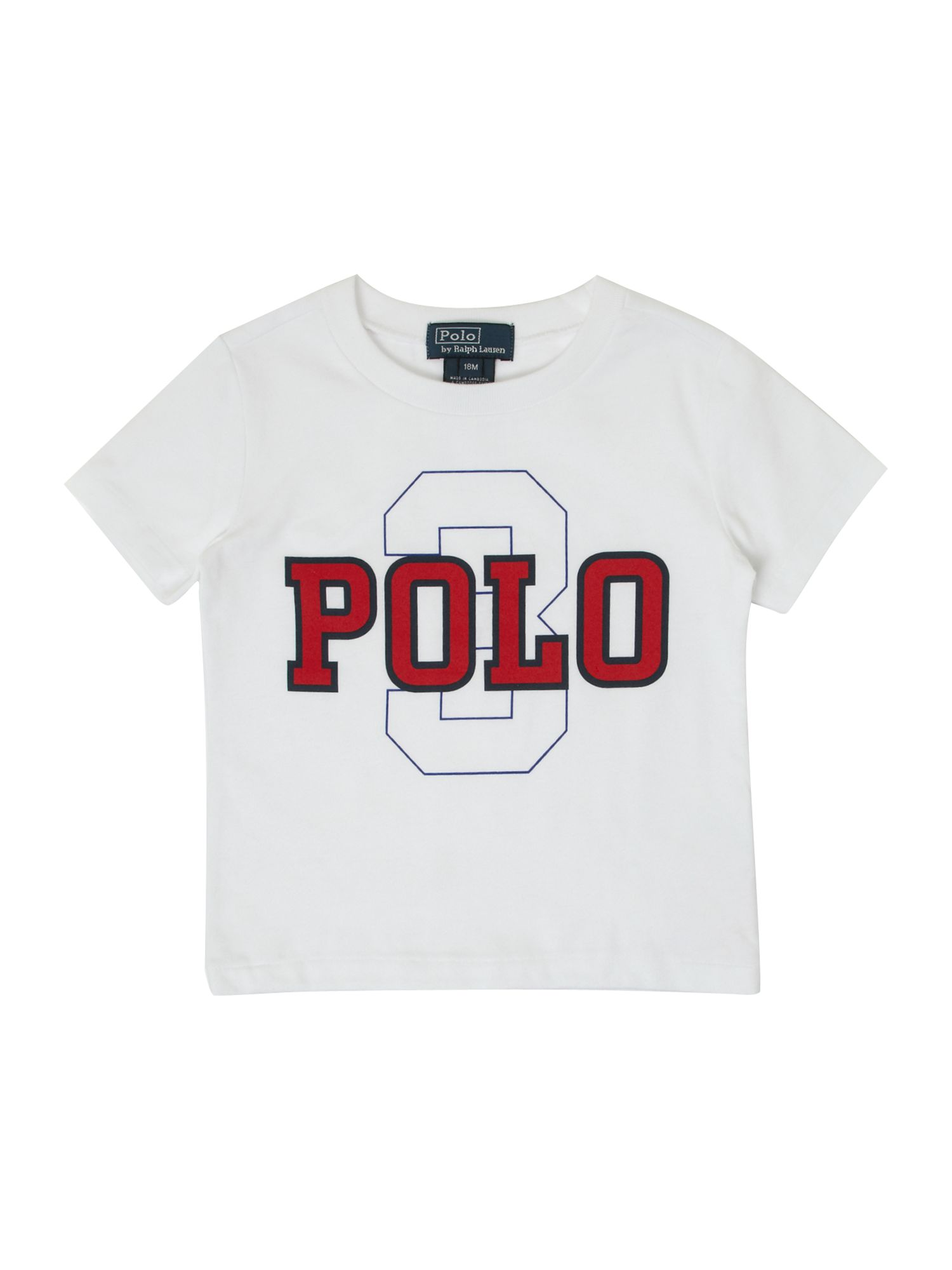 Boy`s Polo text graphic T-shirt