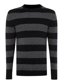 Theory stripe knitwear jumper