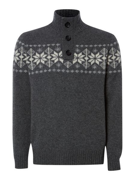 Howick Finland snowflake funnel neck jumper