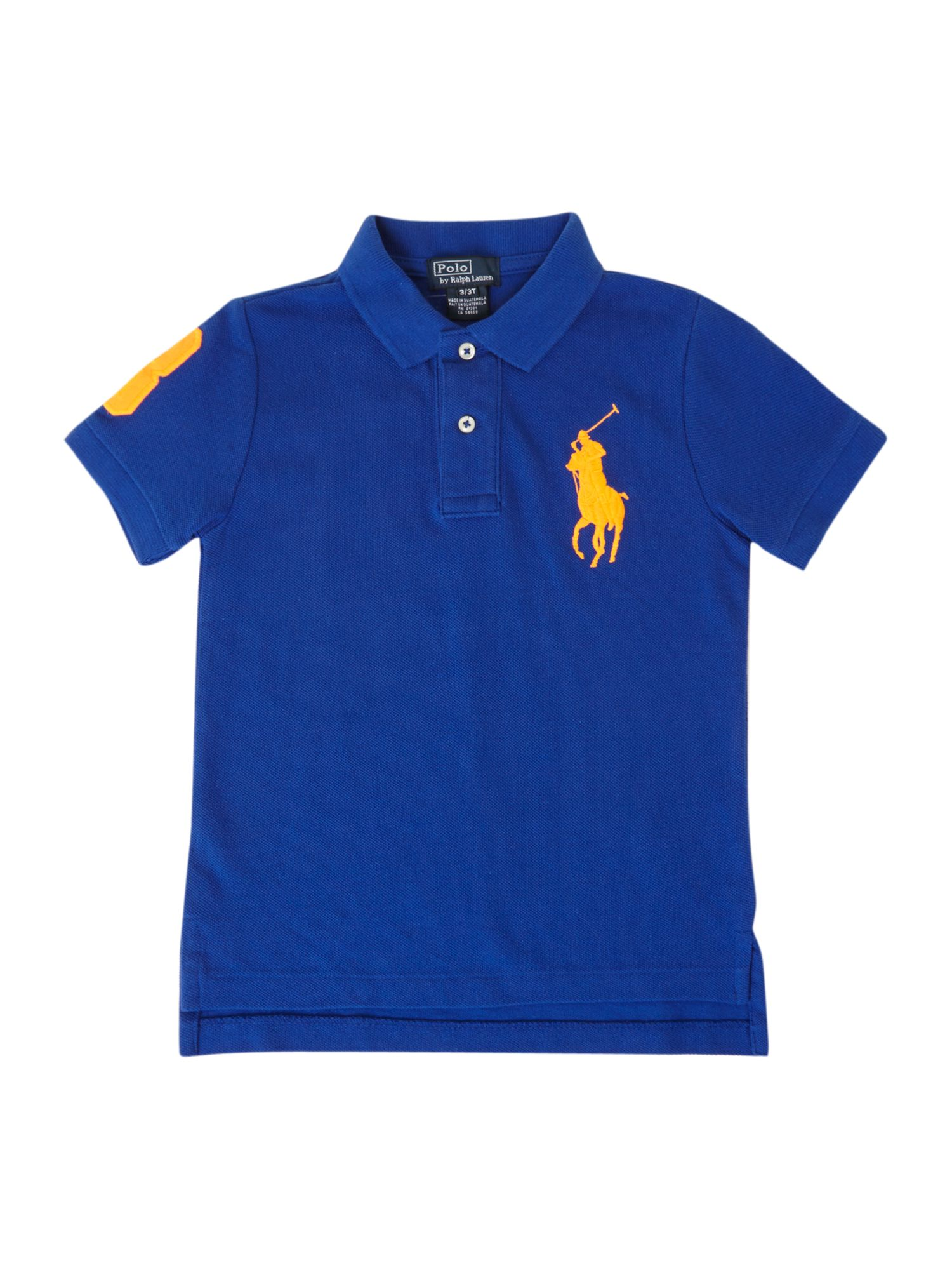 Boy`s large pony neon polo shirt