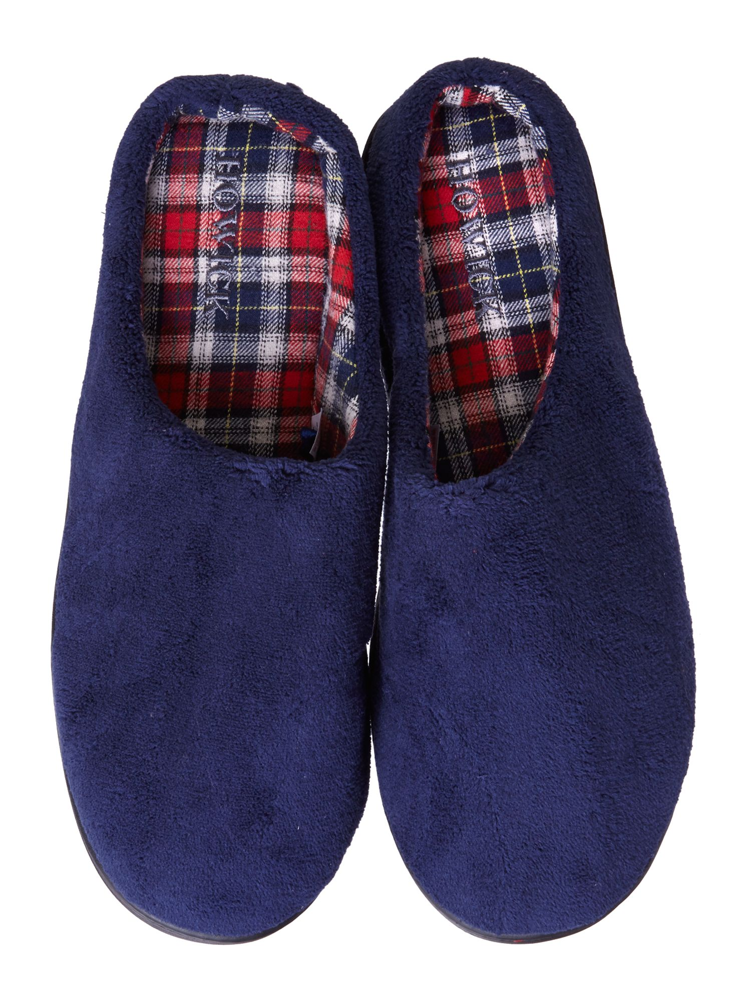 Open back fleece slipper
