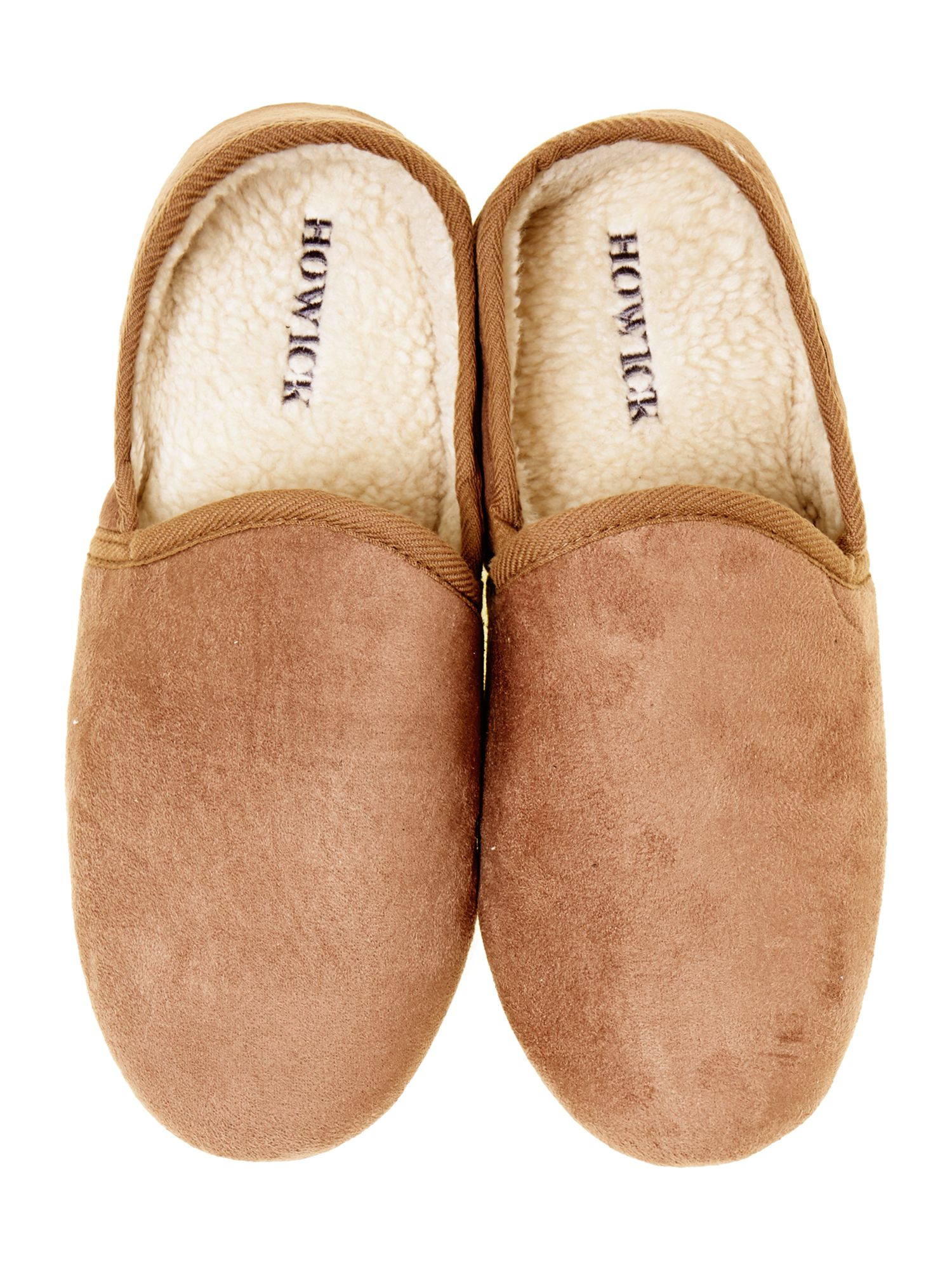 Microsuede full back slipper