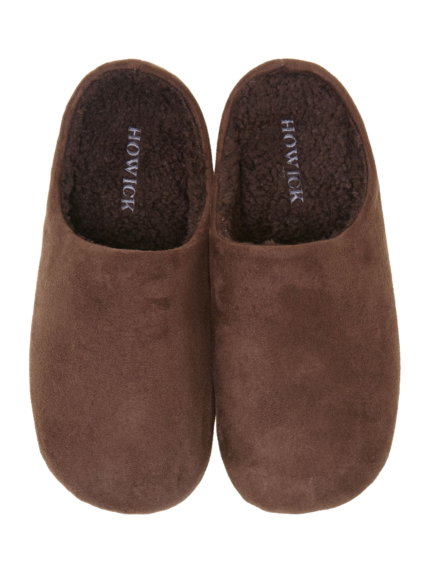 Microsuede open back slipper