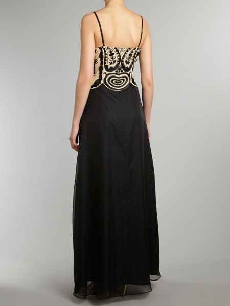 JS Collections Lace bodice maxi dress