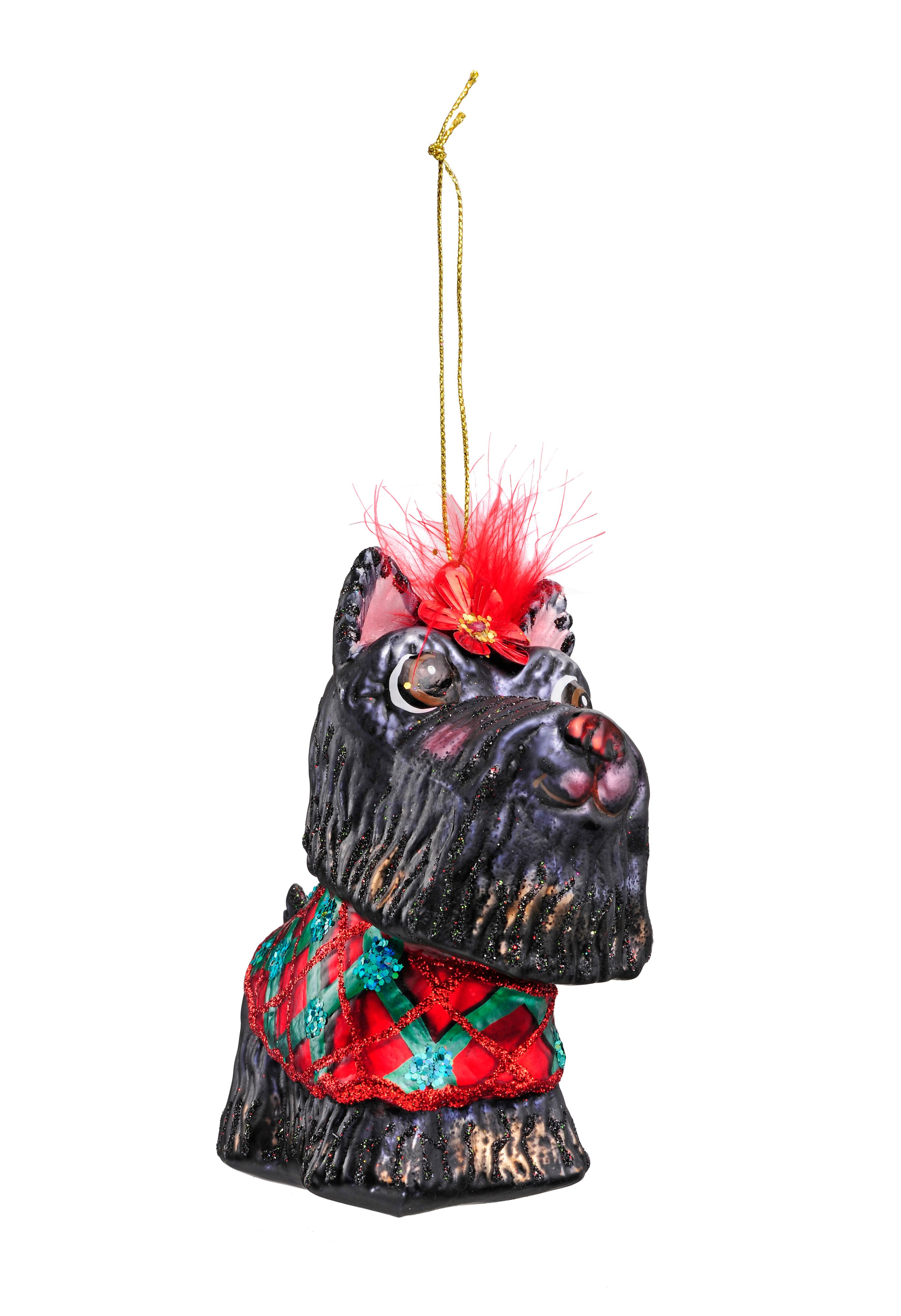 Frosty glass Susan scottish terrier decoration