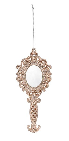 Linea Looking Glass mirror ornament (one of two)