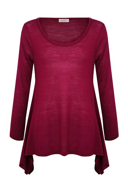 Wool mix drape top