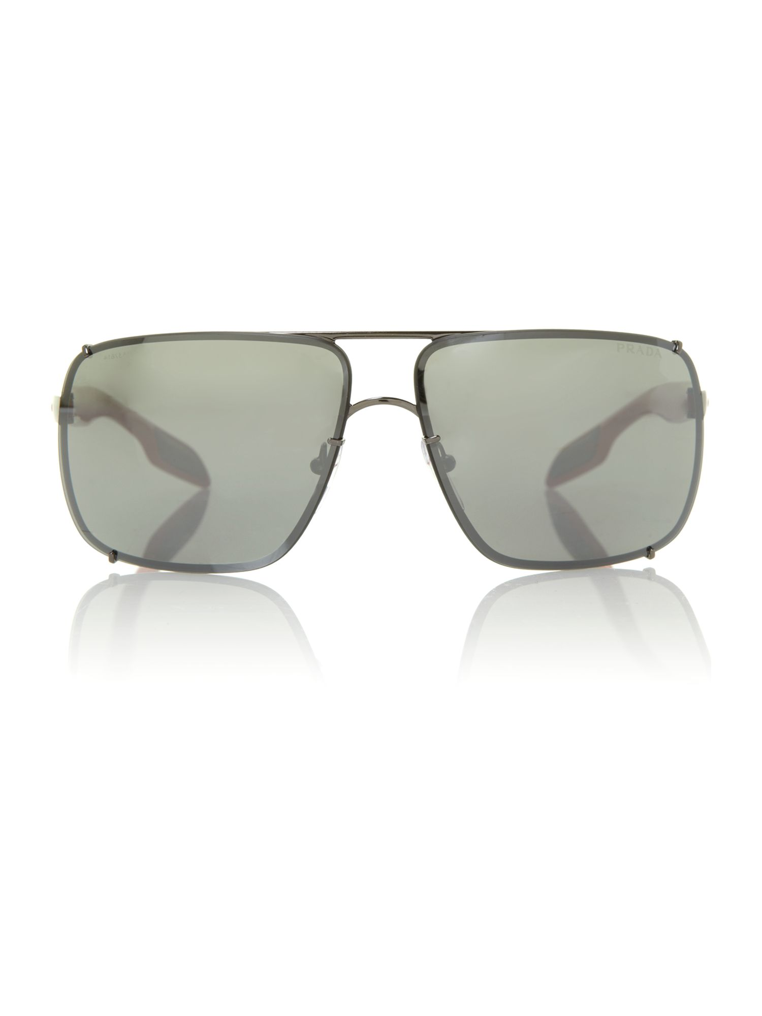 Men`s gunmetal square sunglasses