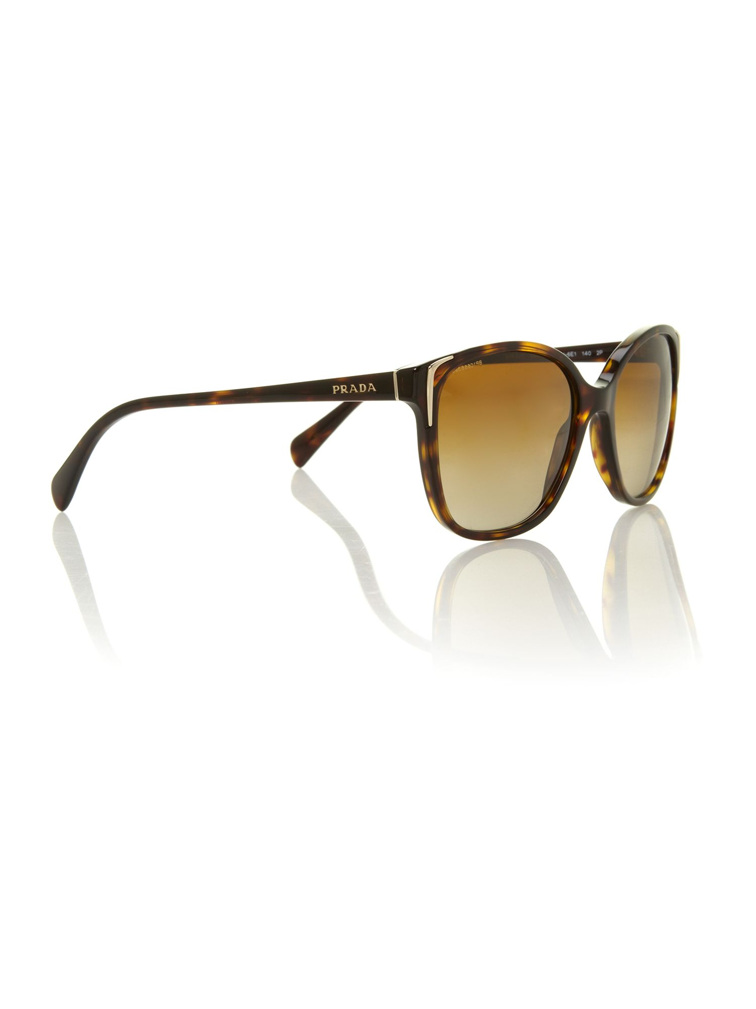 Ladies PR010S havana square sunglasses