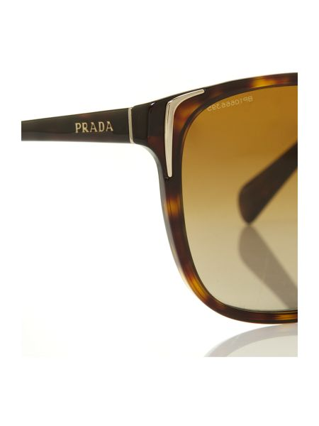 Prada Sunglasses Ladies PR010S havana square sunglasses