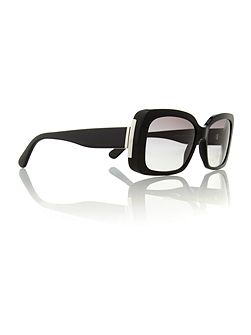 Ladies RL8092 black rectangular sunglasses