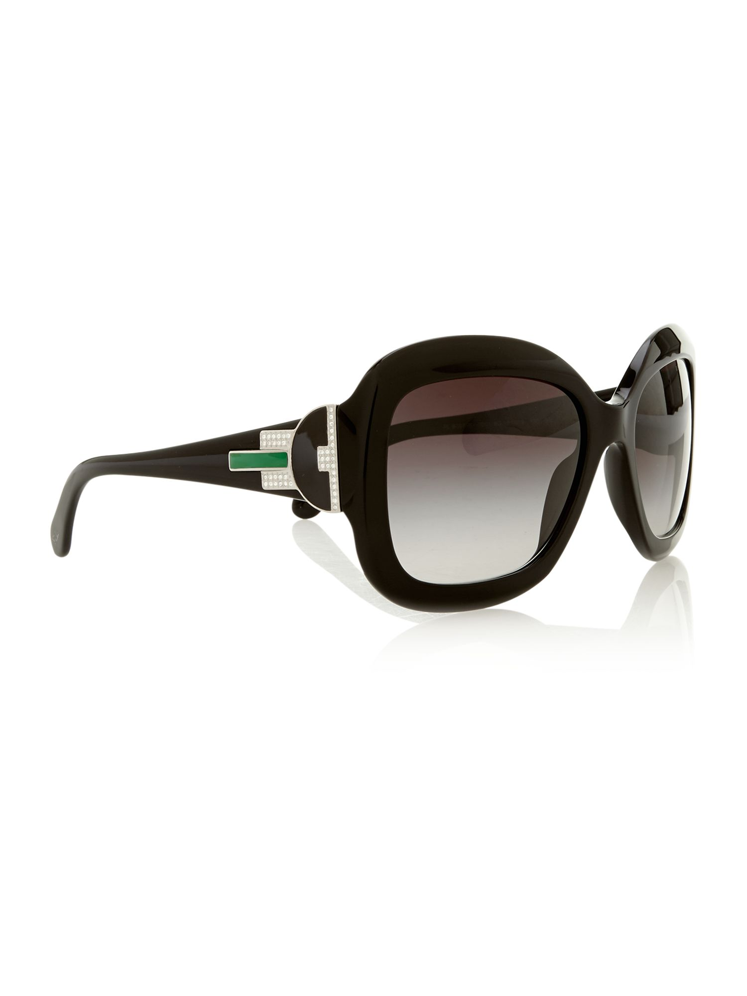 Ladies 8097 black square sunglasses