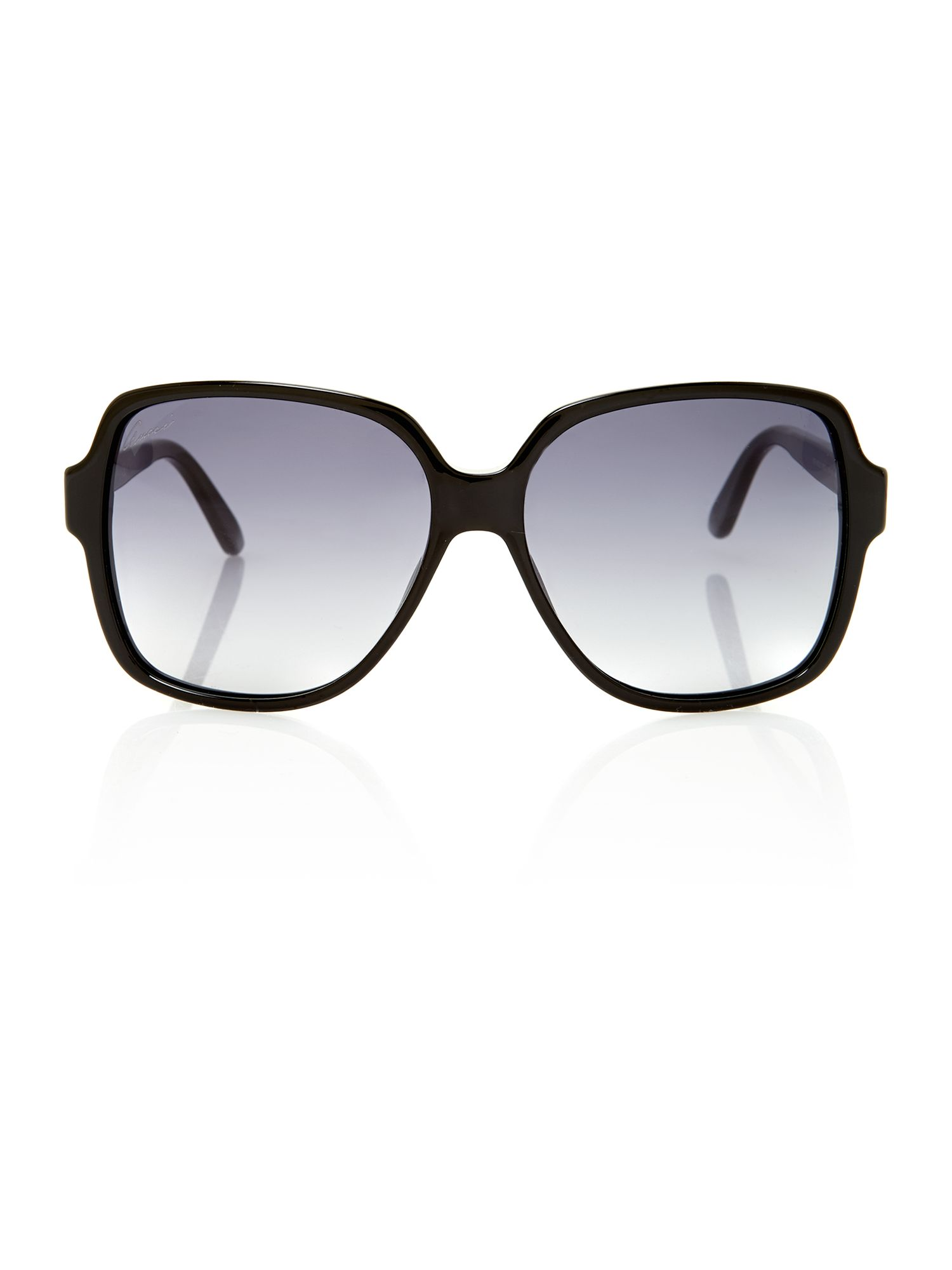 Ladies GG3582/S black square sunglasses