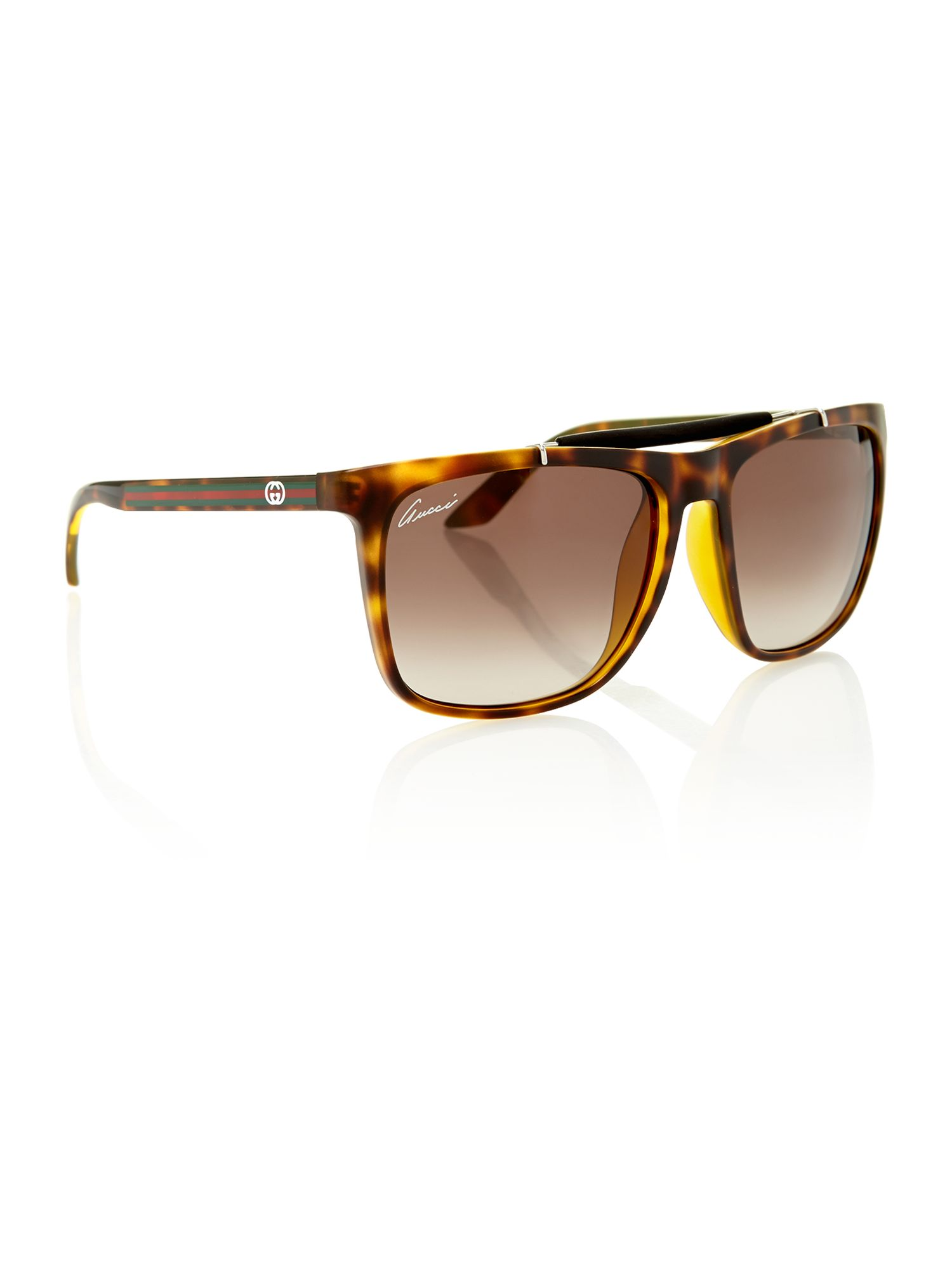 Ladies GG3588/S havana square sunglasses