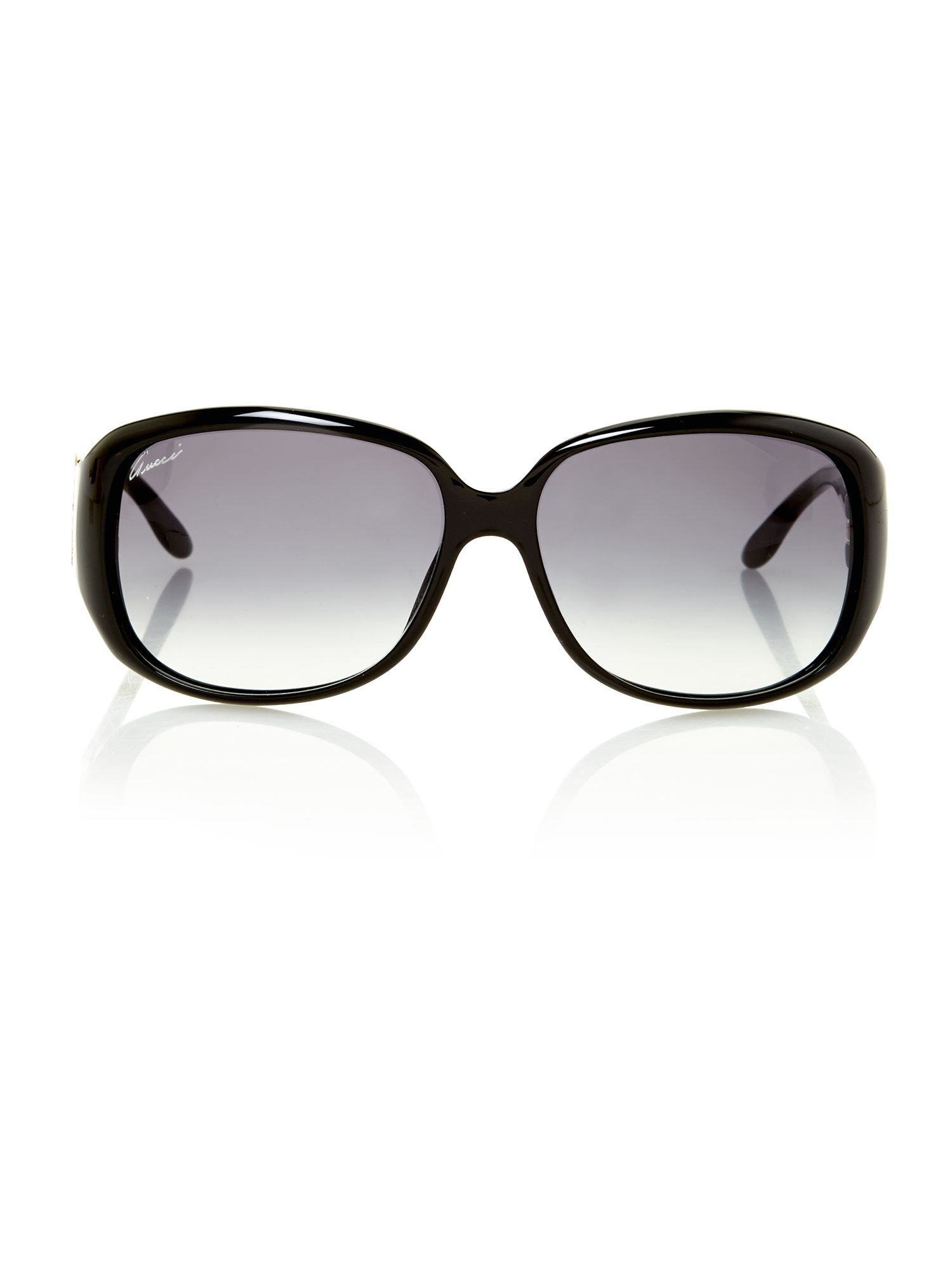 Ladies GG3578/S shiny black square sunglasses