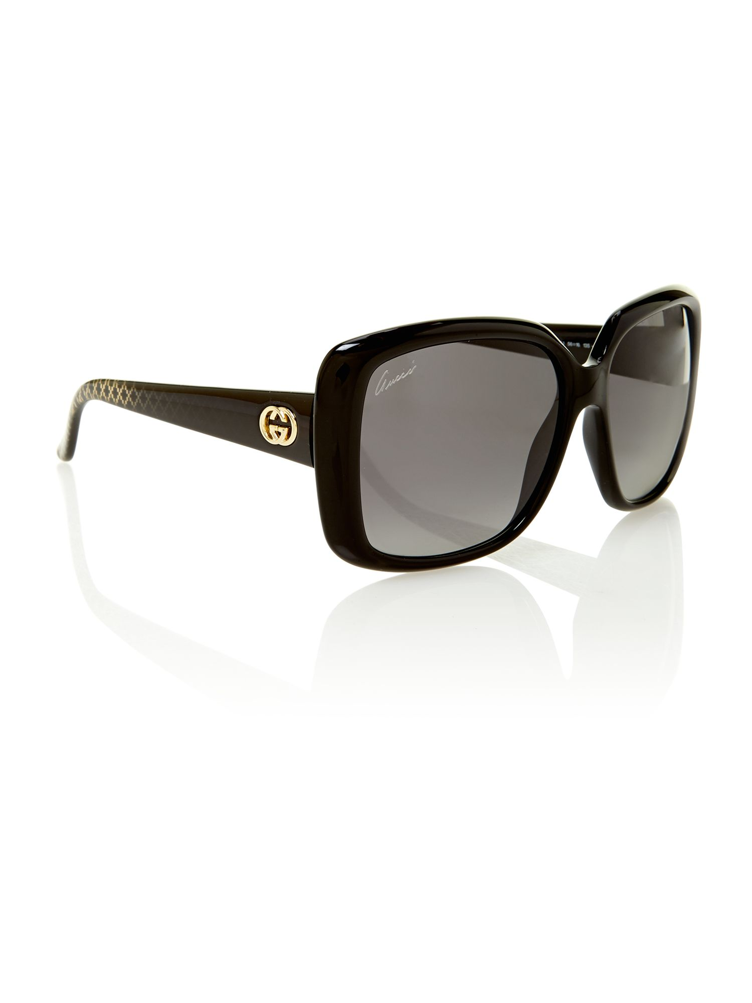 Ladies GG3574/S black square sunglasses
