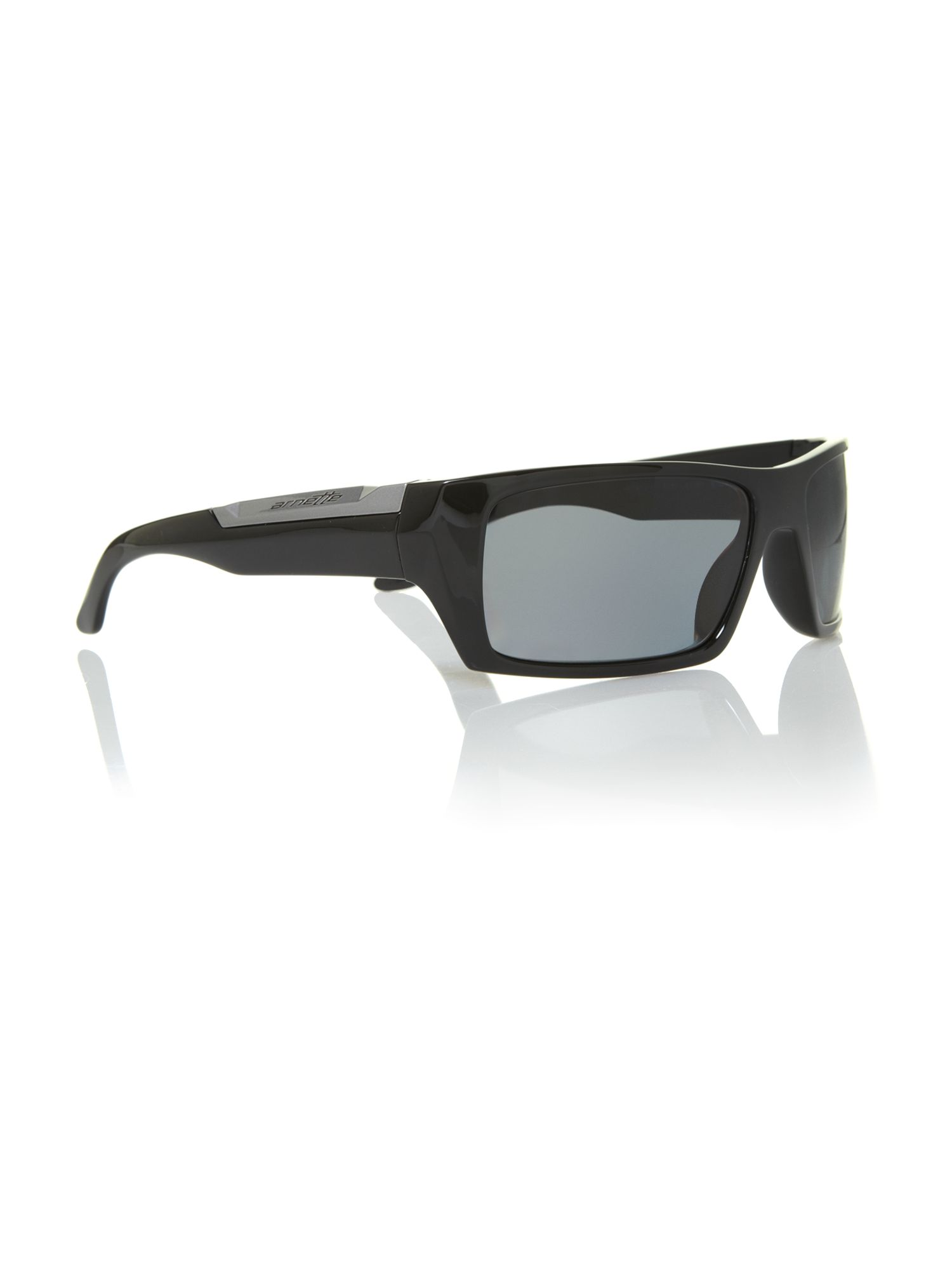 Men`s AN4181 black rectangular sunglasses